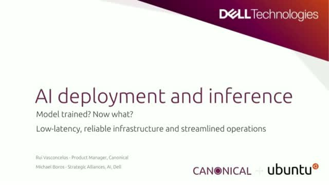 AI deployment and inference: reliable infrastructure and streamlined operations