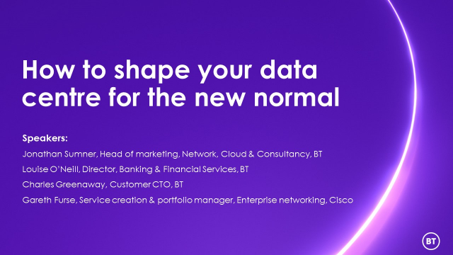 How to shape your data centre for the new normal