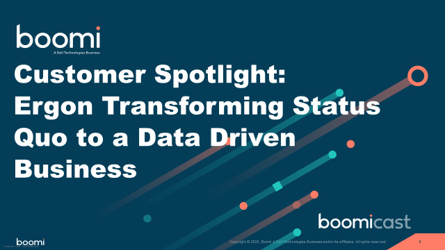 Customer Spotlight: Ergon Transforming Status Quo to a Data Driven Business