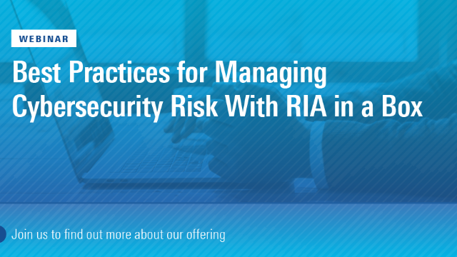 Cybersecurity with RIA in a Box