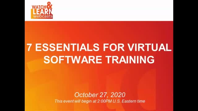 7 Essentials for Virtual Software Training