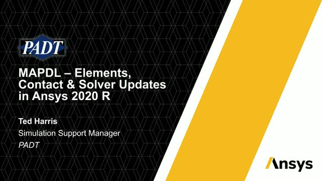 MAPDL – Elements, Contact & Solver Updates in Ansys 2020 R2