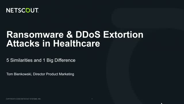 Ransomware & DDoS Extortion Attacks in Healthcare