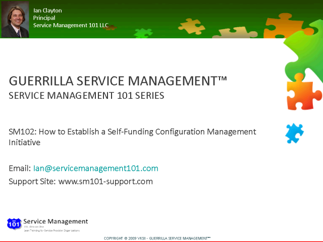 Establishing a Self-Funding Configuration Management Initiative