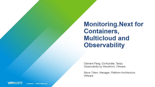 Monitoring.Next for Containers, Multicloud and Observability