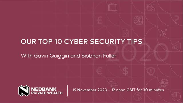 Our top 10 cyber security tips
