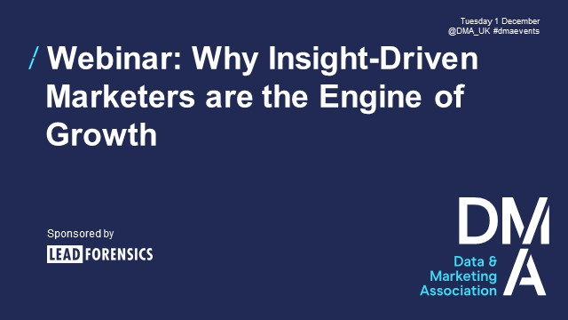 Webinar: Why Insight-Driven Marketers are the Engine of Growth