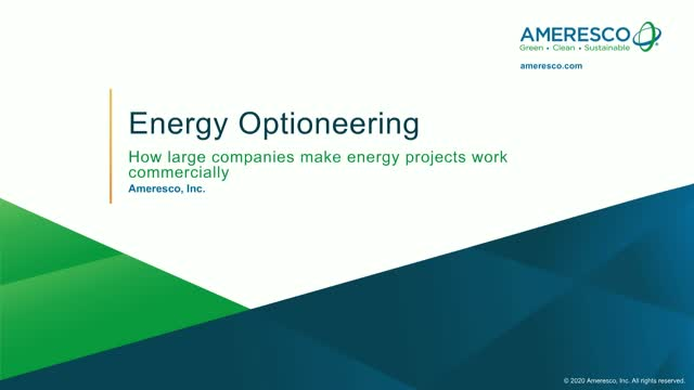 Energy optioneering: How large companies make energy projects work commercially