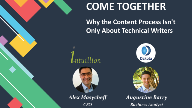 Come Together: Why the Content Process Isn't Only about Technical Writers