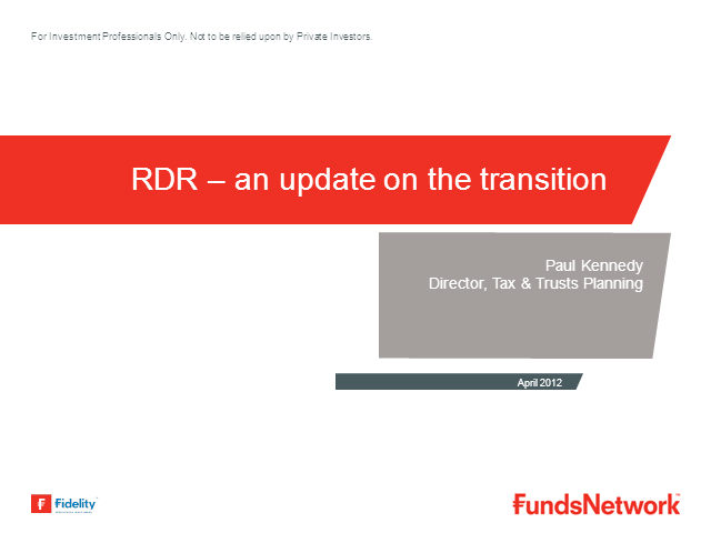 RDR, Fees, Legacy & Trail Commission and VAT