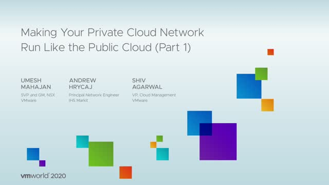 Making Your Private Cloud Network Run Like a Public Cloud - Part 1