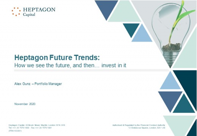 Heptagon Future Trends: How we see the future, and then... invest in it