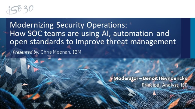 Using AI, automation and open standards to modernize security