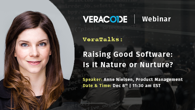 VeraTalks: Raising Good Software: Is It Nature or Nurture?
