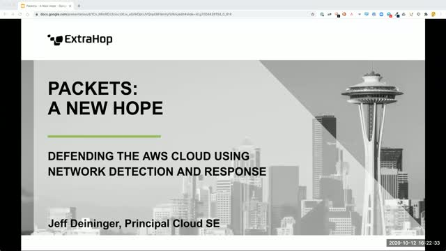 Packets: A New Hope - Defending the AWS Cloud Using Network Detection & Response