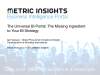 The Universal BI Portal: The Missing Ingredient to Your BI Strategy