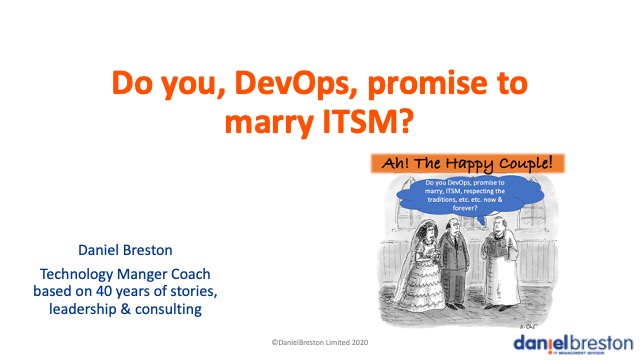 Do you, DevOps, promise to marry ITSM?