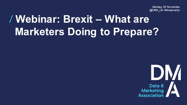 Webinar: Brexit - What are Marketers Doing to Prepare?