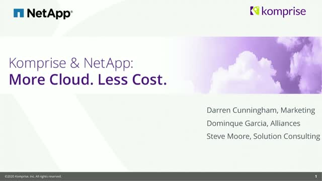 NetApp Insight 2020: Move to the Cloud Faster and Smarter