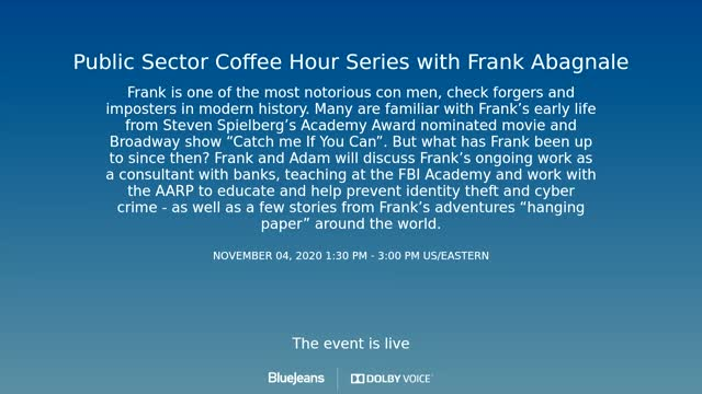 Red Hat Coffee Hour - Frank Abagnale