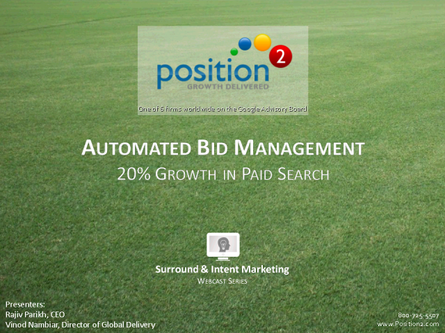 How Automated Bid Mgmt is Improving Paid Search Returns by >20%