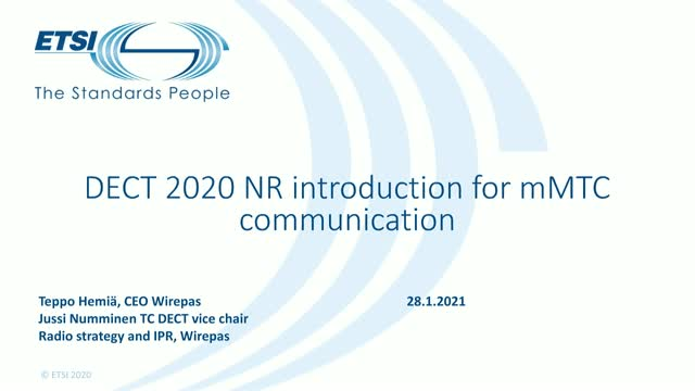 ETSI DECT 2020: New connectivity standard for industrial IoT