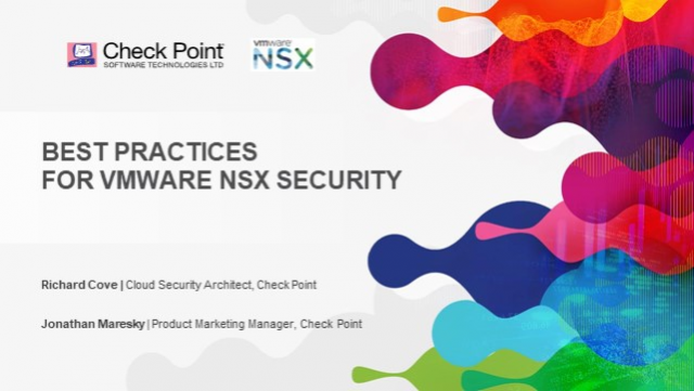Architecture Best Practices for VMware NSX Security