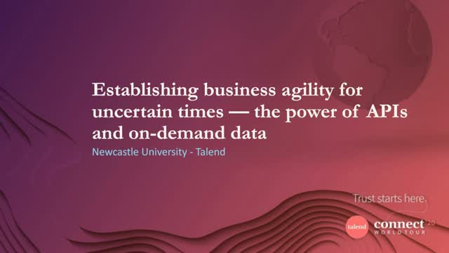 Establishing Business Agility for Uncertain Times – The Power of APIs