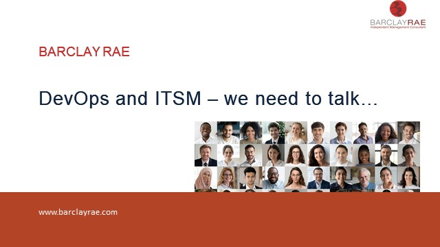 DevOps and ITSM – we need to talk