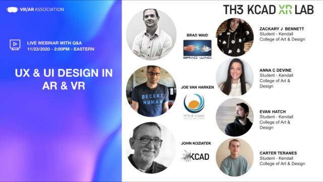 UX & UI design in Virtual and Augmented Reality