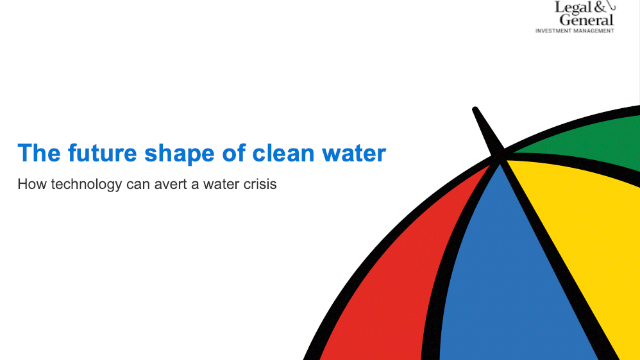 The future shape of clean water: How technology can avert a water crisis