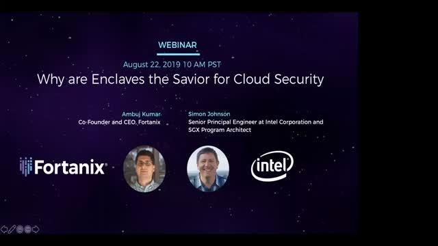 Webinar: Why are Enclaves the Savior for Cloud Security?