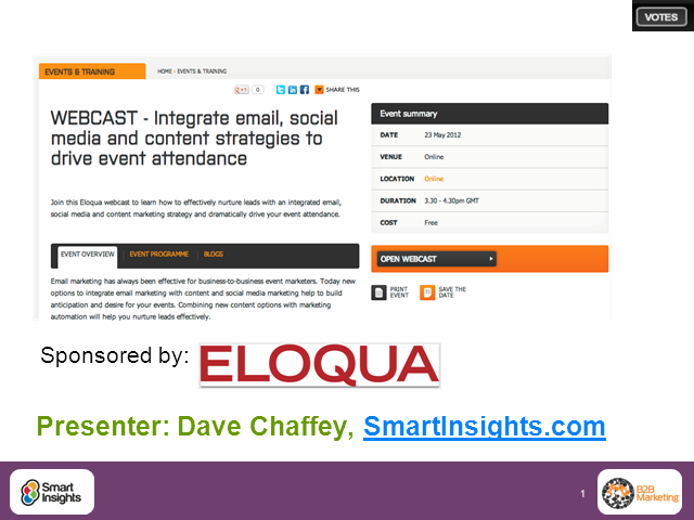 Integrate email, social media and content strategies to drive event attendance