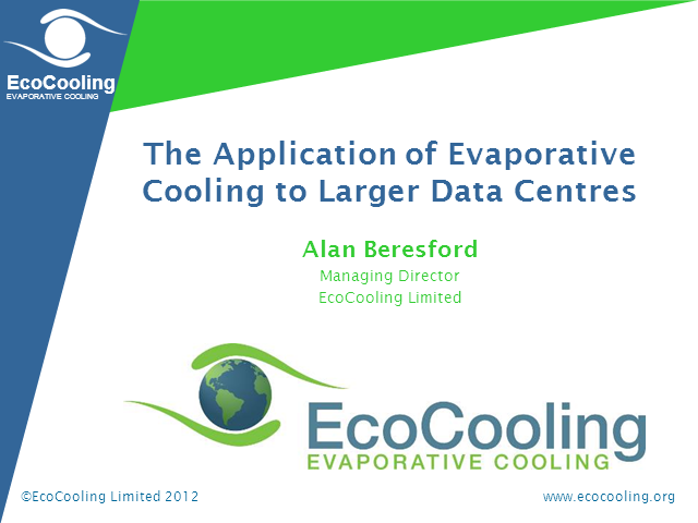 Cooling Larger Data Centres with Fresh Air and Direct Evaporative Cooling