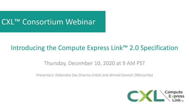 Introducing the Compute Express Link™ 2.0 Specification