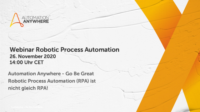 Automation Anywhere Webinar - Robotic Process Automation-DE