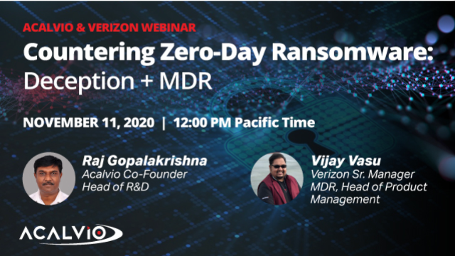 Countering Zero-Day Ransomware: Deception + MDR