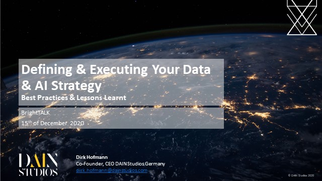 Defining & Executing Your Data & AI Strategy: Best Practices & Lessons Learnt