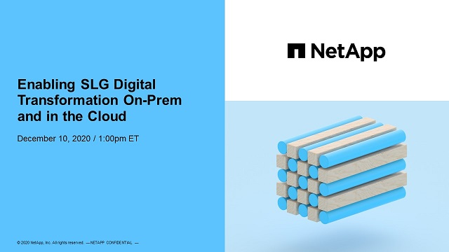 Enabling Local Government Digital Transformation On-Prem and in the Cloud