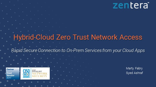 5 Easy Steps to Hybrid and Multicloud with ZTNA