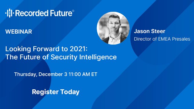 Looking Forward to 2021: The Future of Security Intelligence