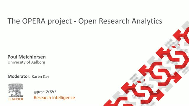 #PRCN2020: The OPERA project - Open Research Analytics
