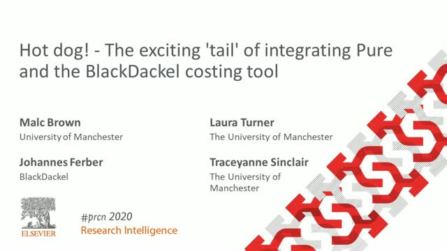 #PRCN2020: Hot dog! Exciting tail of integrating Pure & BlackDackel costing tool