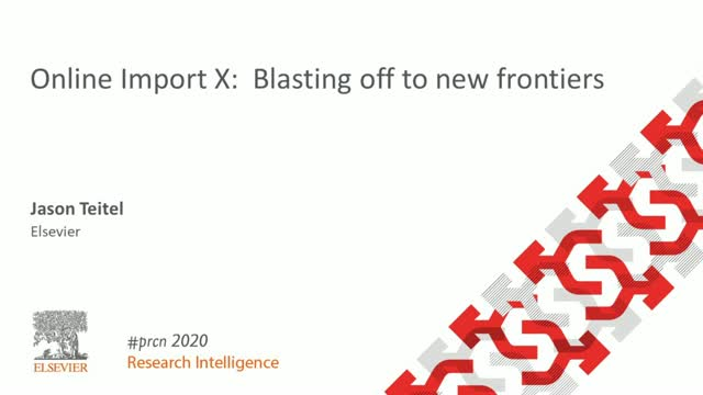 #PRCN2020: Online Import X:  Blasting off to new frontiers