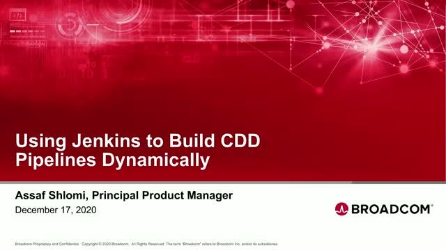 Using Jenkins to Build CDD Pipelines Dynamically