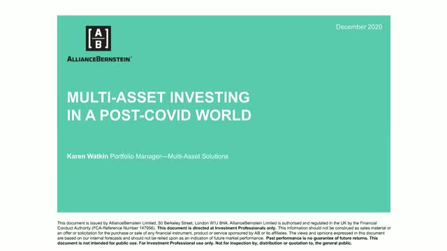 Multi-Asset Outlook 2021: Investing in a Post Covid-World