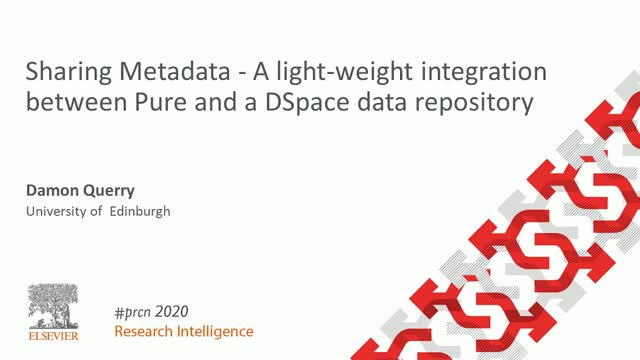 #PRCN2020: Sharing Metadata - integration between Pure and a DSpace repository