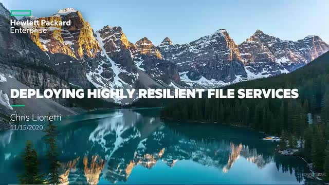 Deploying Highly Resilient File Services
