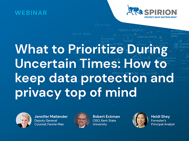 What to Prioritize During Uncertain Times: Data Protection & Privacy