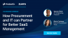 How Procurement and IT can Partner for Better SaaS Management